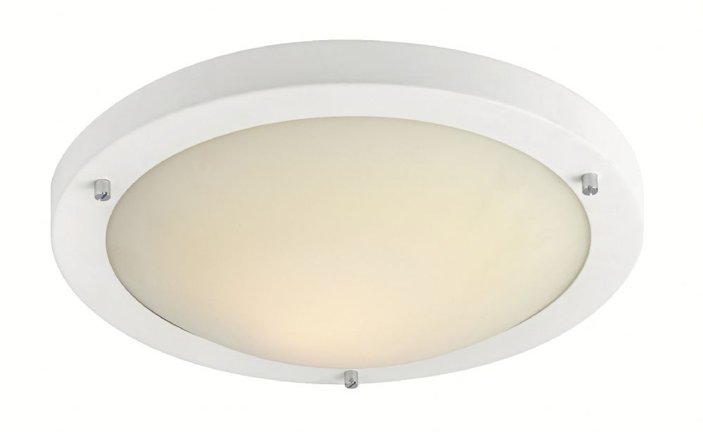 Firstlight 8611WH Matt White with Opal Glass Rondo LED Flush Fitting